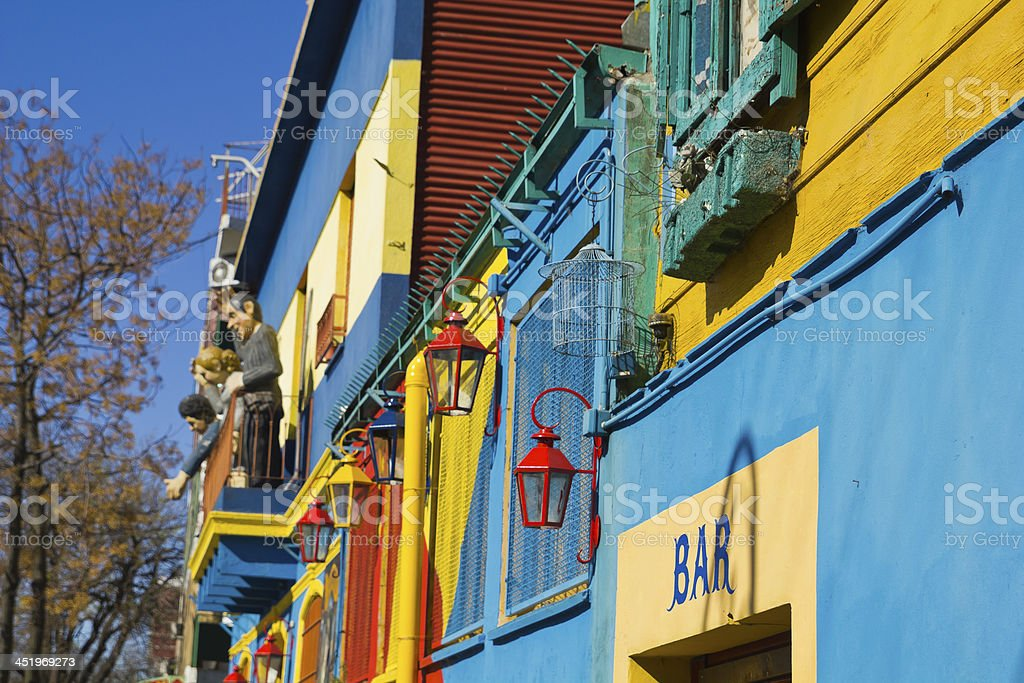 Caminito, La Boca district, Buenos Aires, Argentina stock photo