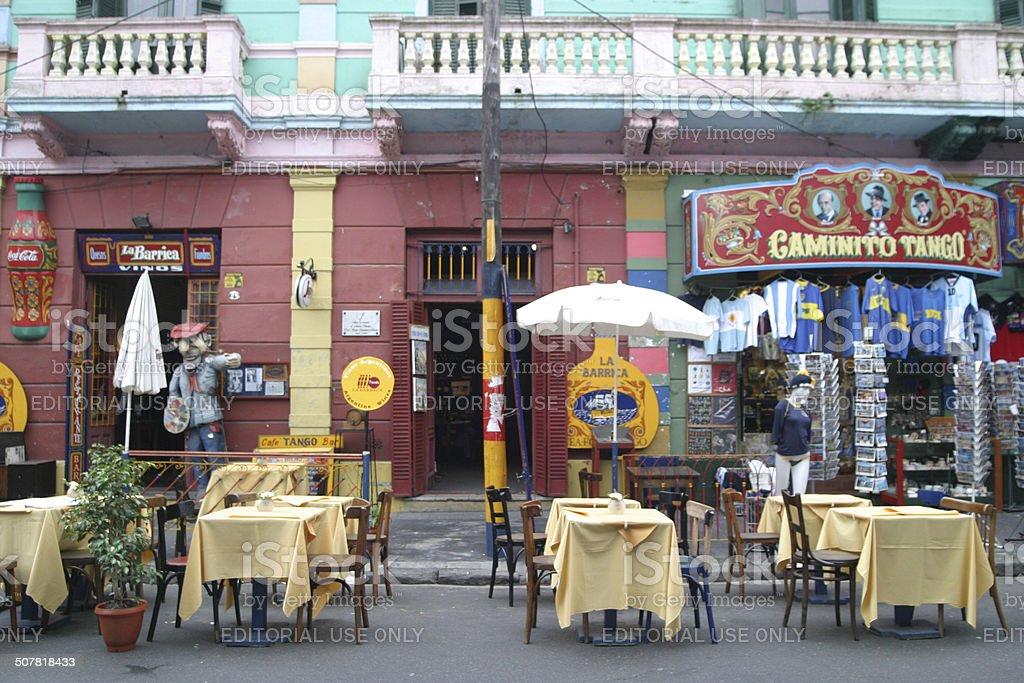 Caminito Restaurant stock photo