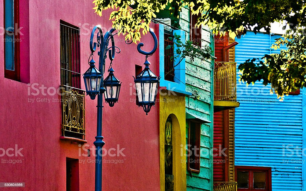 Caminito Street at Buenos Aires Argentina stock photo