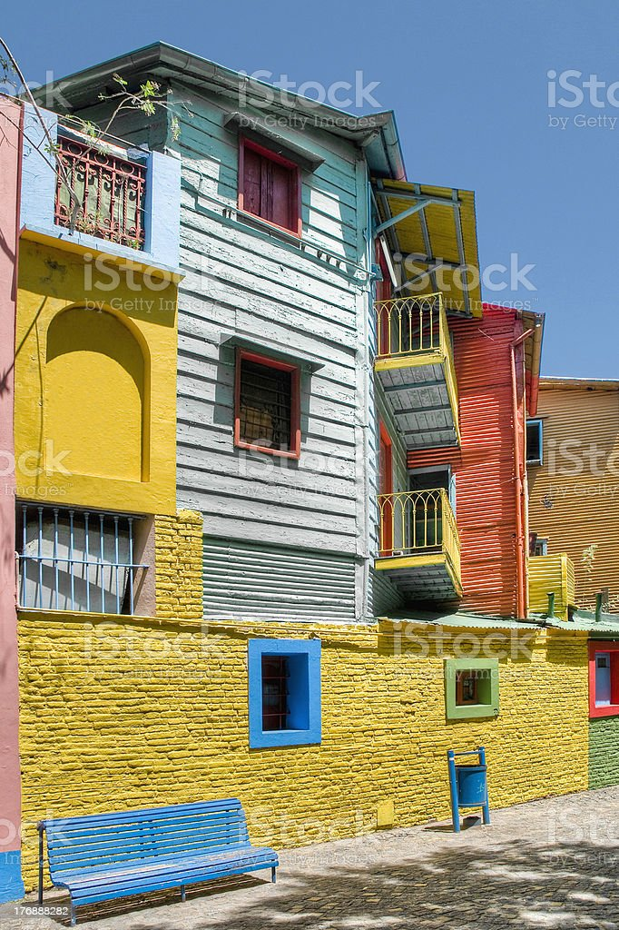 Caminito street in La Boca stock photo