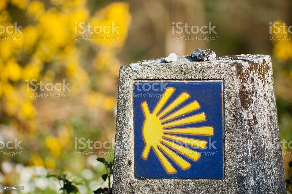 Camino de Santiago and pilgrims shell royalty-free stock photo
