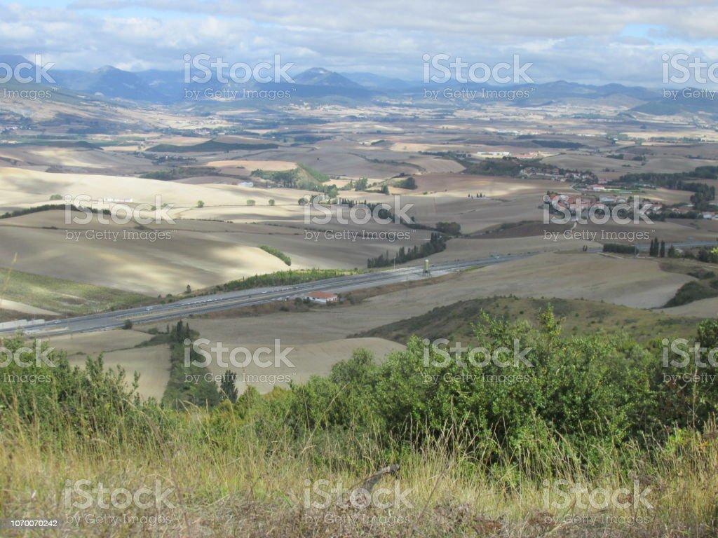 Camino de Santiago stock photo