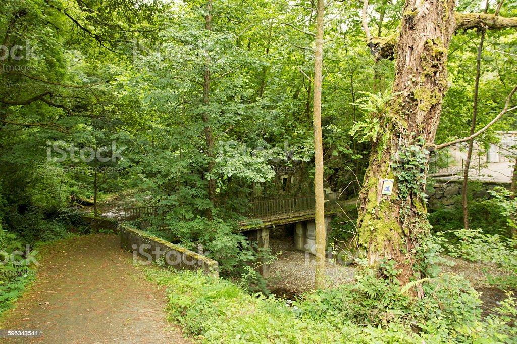Camino de Santiago Saint Jean Pied de Port to Roncesvalles royalty-free stock photo