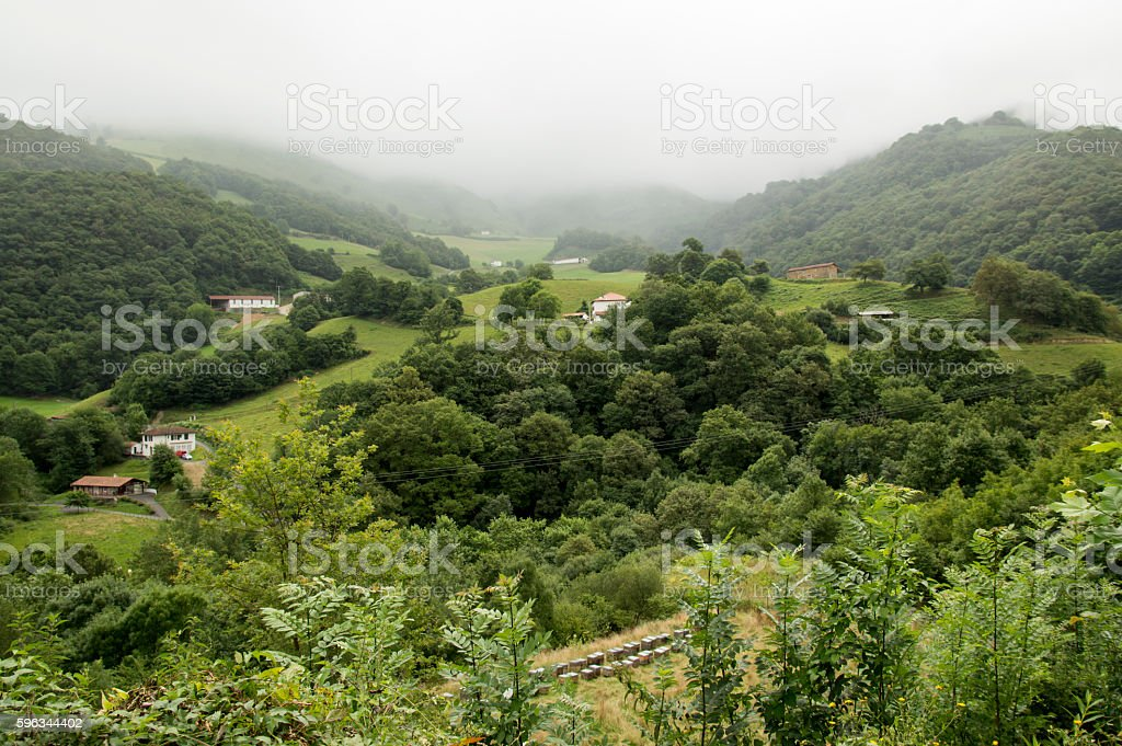 Camino de Santiago Saint Jean Pied de Port to Roncesvalles royalty-free stock photo