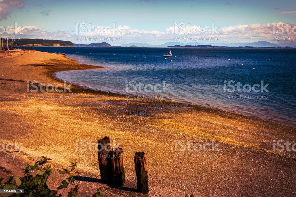 Camino eiland strand - Royalty-free Blauw Stockfoto