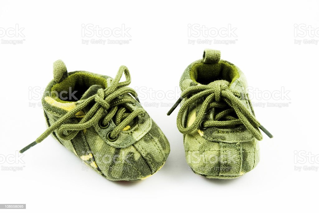 Camo Baby Shoes royalty-free stock photo