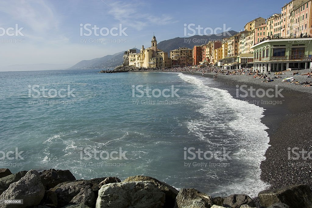 Camogli Beach - Liguria, Italy royalty-free stock photo