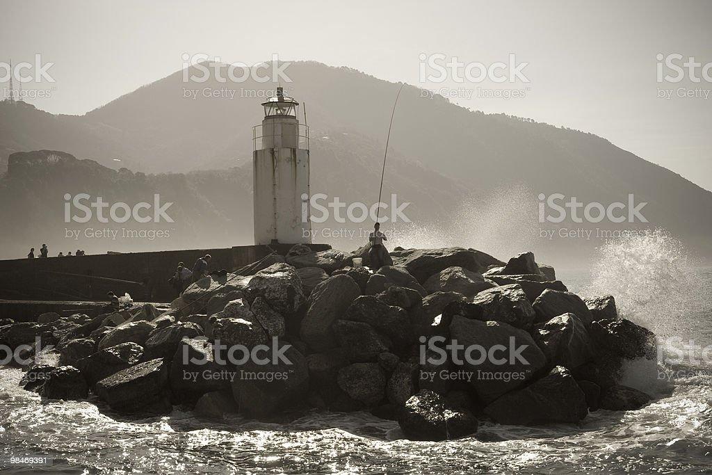 Camogli Port, Liguria Panorama Coast - Italy royalty-free stock photo