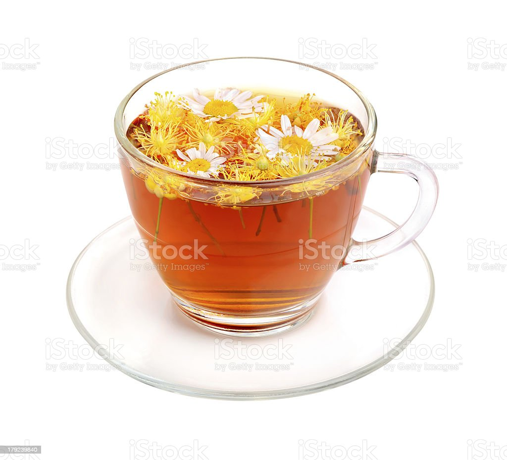 Camomile and linden tea royalty-free stock photo