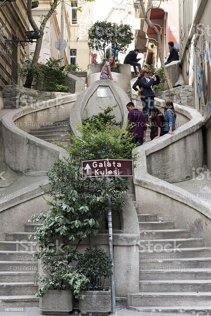 Camondo Stairs in  Istanbul royalty-free stock photo
