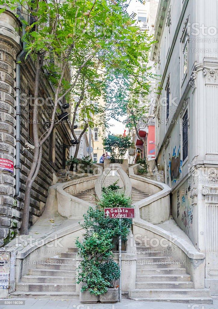 Camondo Stairs, Istanbul. stock photo