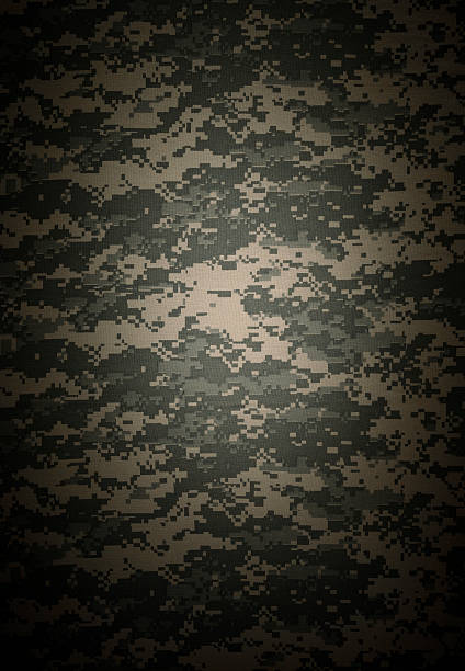 Camouflage background Digital Camuoflage background on textile camouflage stock pictures, royalty-free photos & images