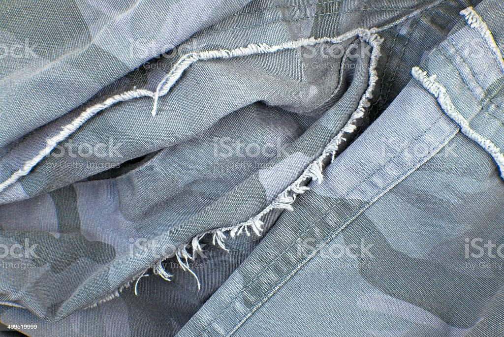 camouflage cloth texture crumpled stock photo