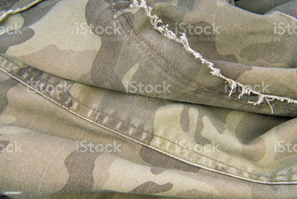 camouflage cloth texture stock photo