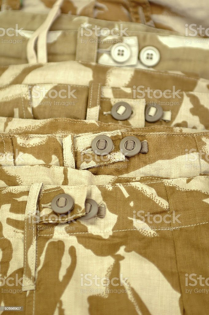 camouflage clothing stock photo