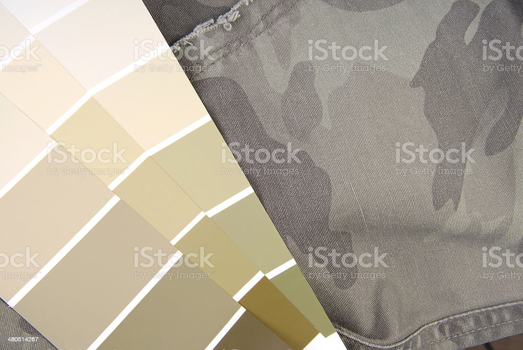 camouflage color chart for interior design stock photo