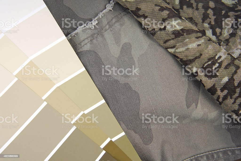 camouflage color chart stock photo