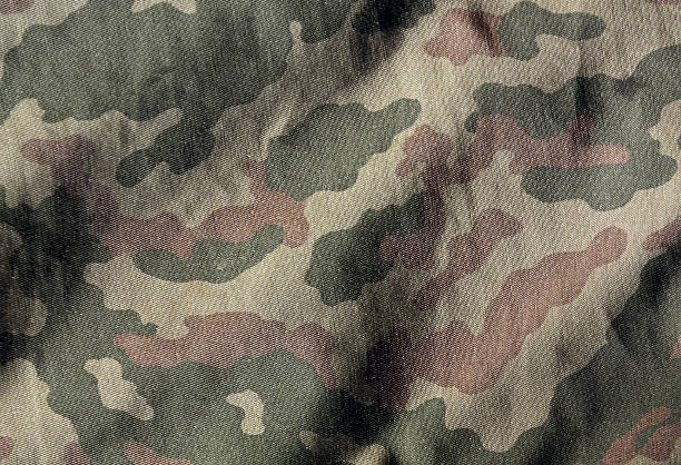 camouflage color cloth surface. - 위장 뉴스 사진 이미지