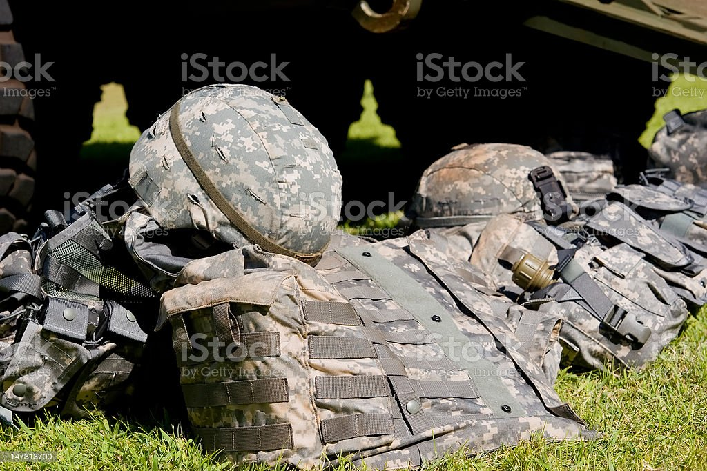Camouflage combat gear royalty-free stock photo