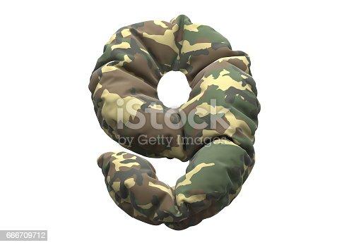 146869841 istock photo Camouflage fabric font 666709712
