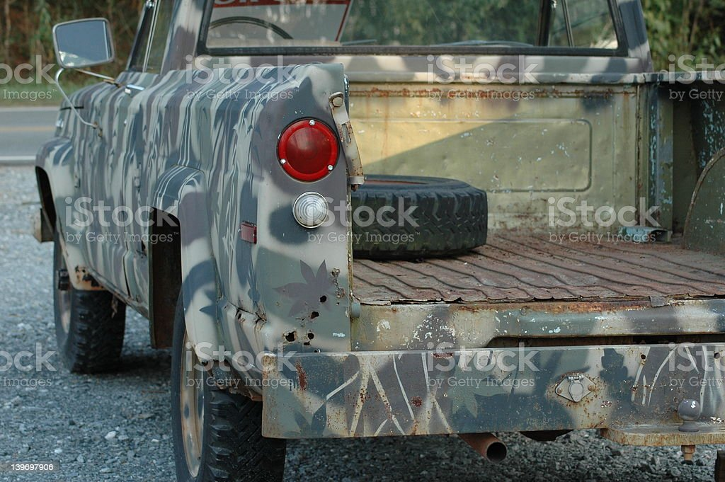 Camouflage Truck royalty-free stock photo