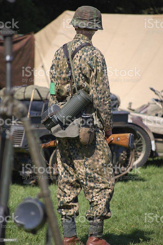 Замаскированы Немецкий солдат. Стоковые фото Стоковая фотография