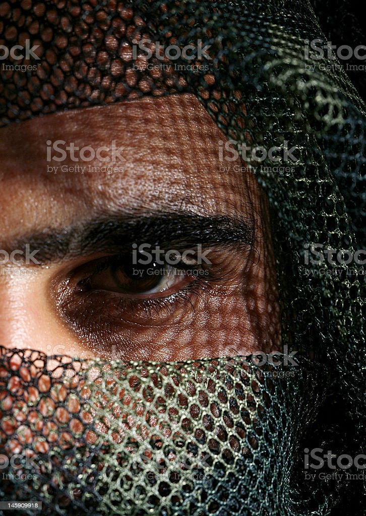 camouflaged soldiar royalty-free stock photo