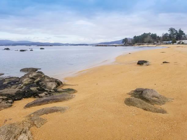 Camp beach in Vilanova de Arousa stock photo