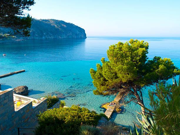 Camp de Mar Beach, Mallorca stock photo