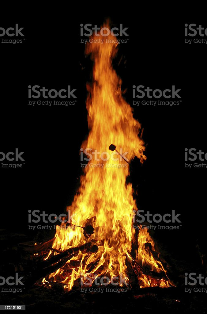 Camp Fire royalty-free stock photo