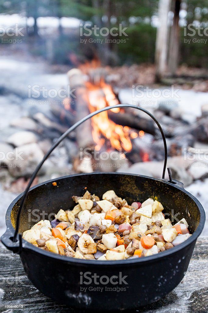 Camp Food stock photo