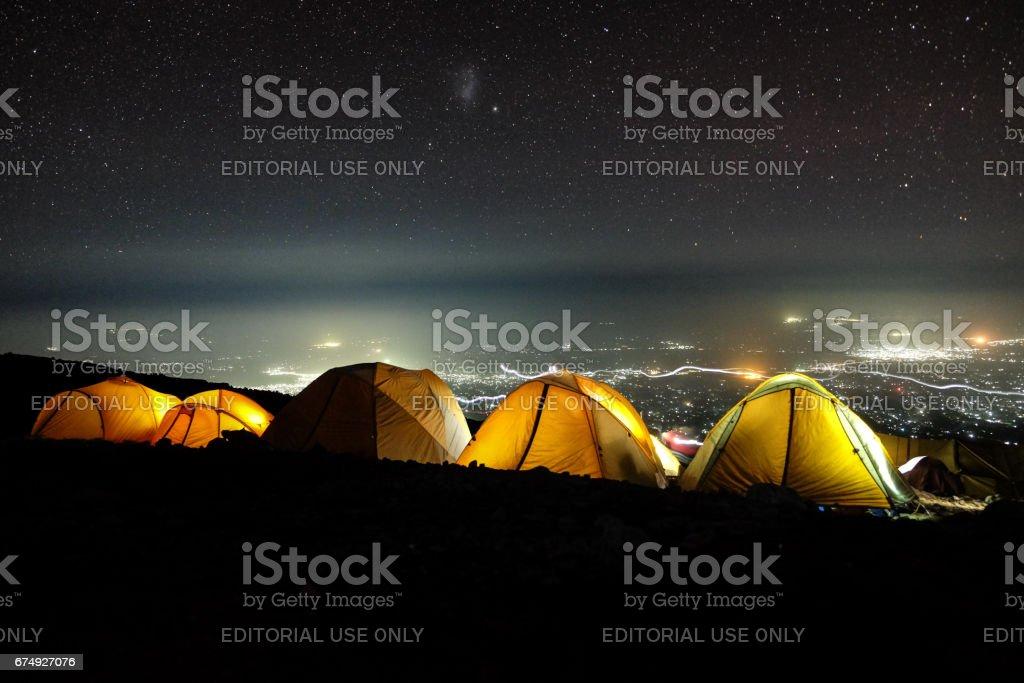 Camp Night stock photo