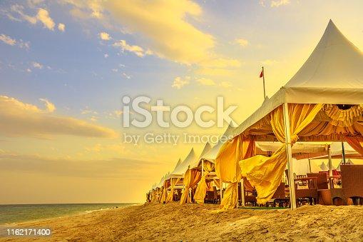 istock Camp of tents Qatar 1162171400