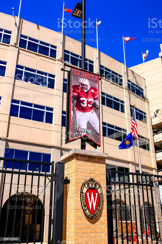 Camp Randall football Stadium, home of the UWBadgers at Madison stock photo