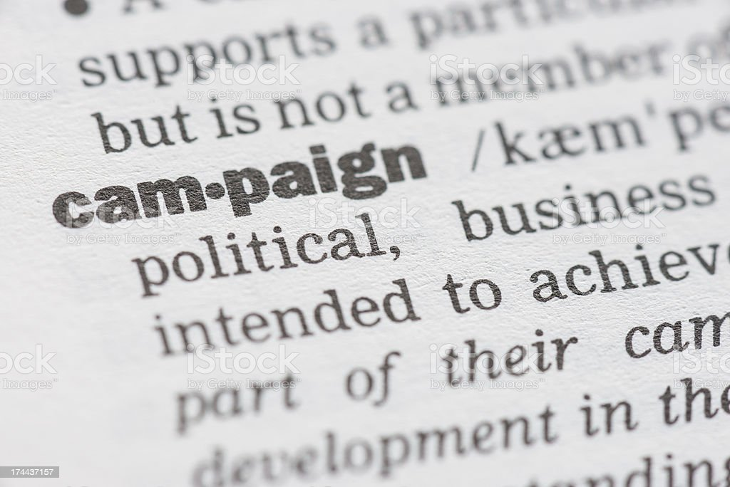 Campaign royalty-free stock photo
