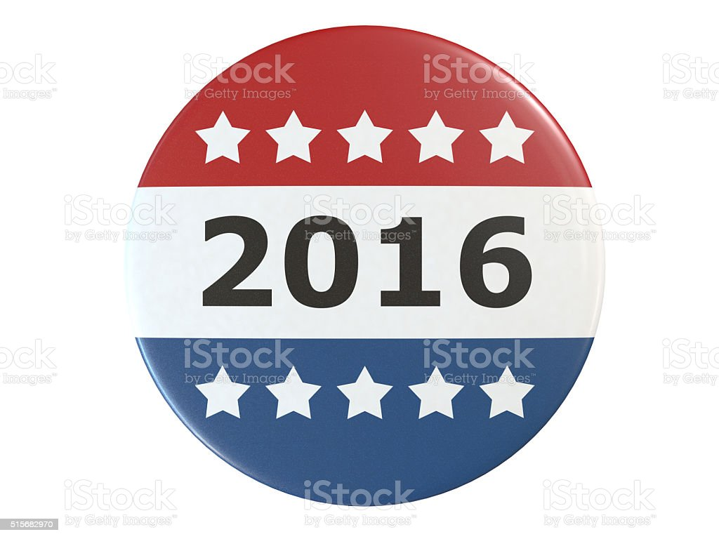 Campaign Vote Button stock photo