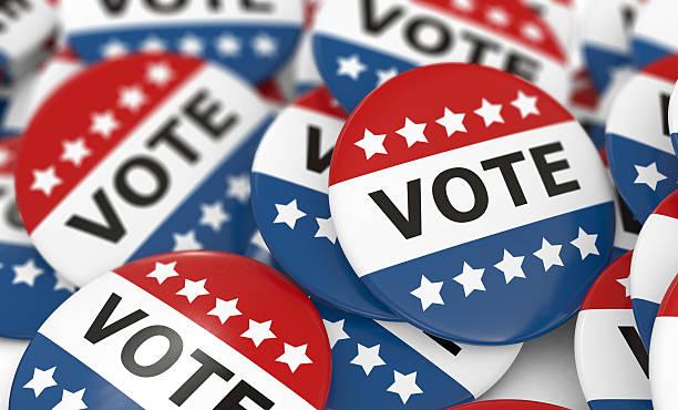 campagne aux voix boutons - vote photos et images de collection