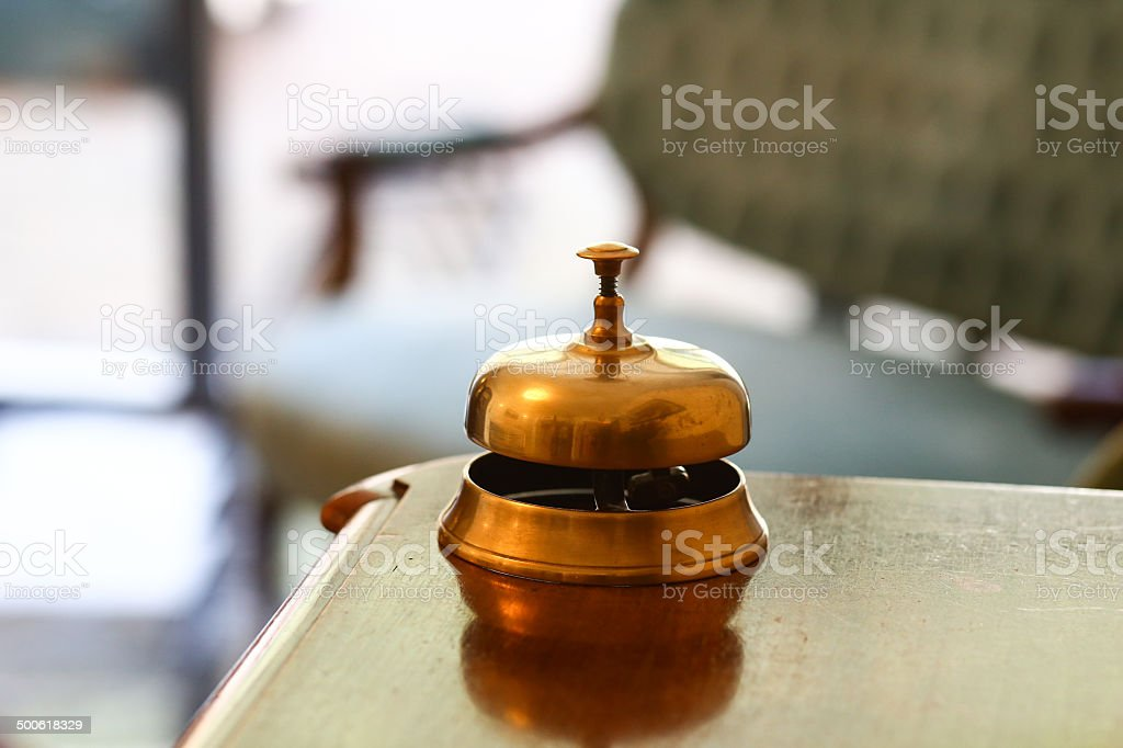 Campanello reception hotel service stock photo