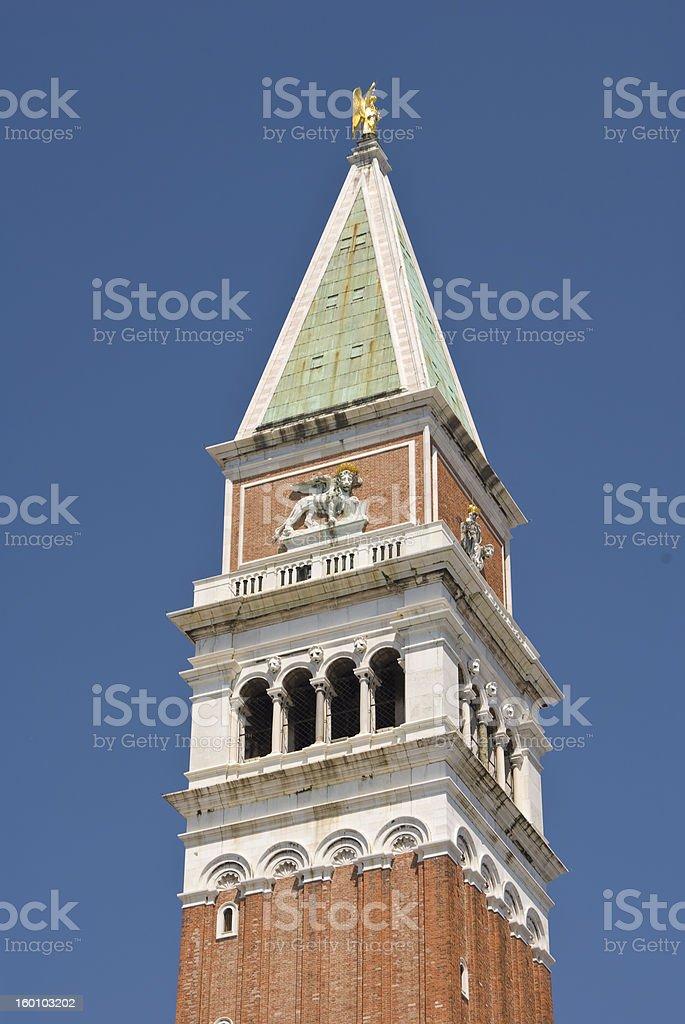 Campanile on Piazza San Marco (Venice, Italy) stock photo