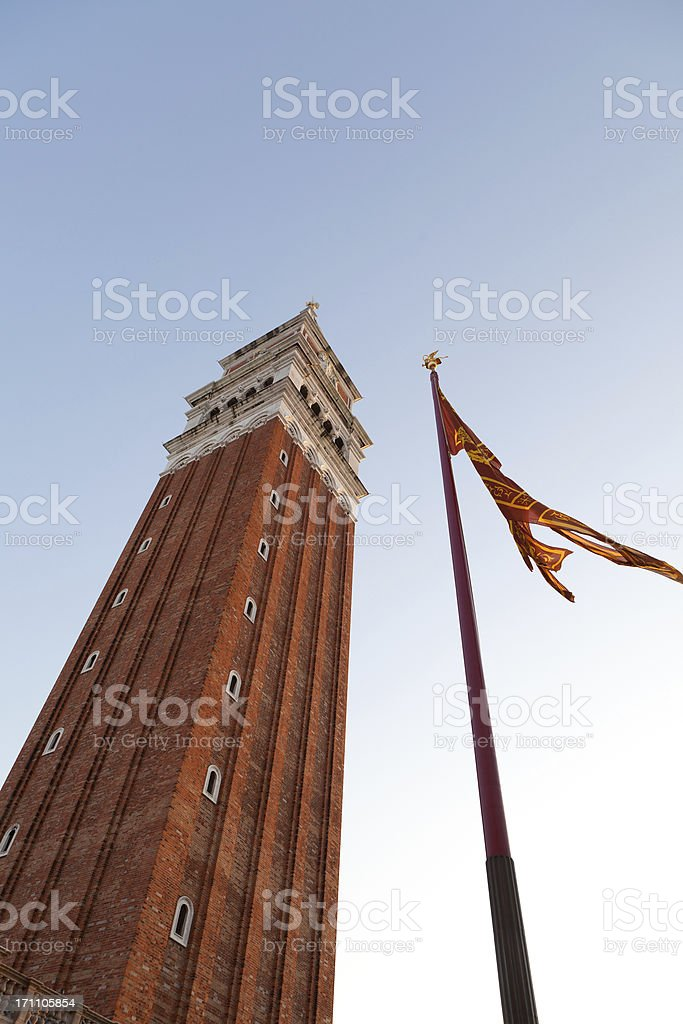 campanile on St. Mark's Square in Venice, Italy royalty-free stock photo