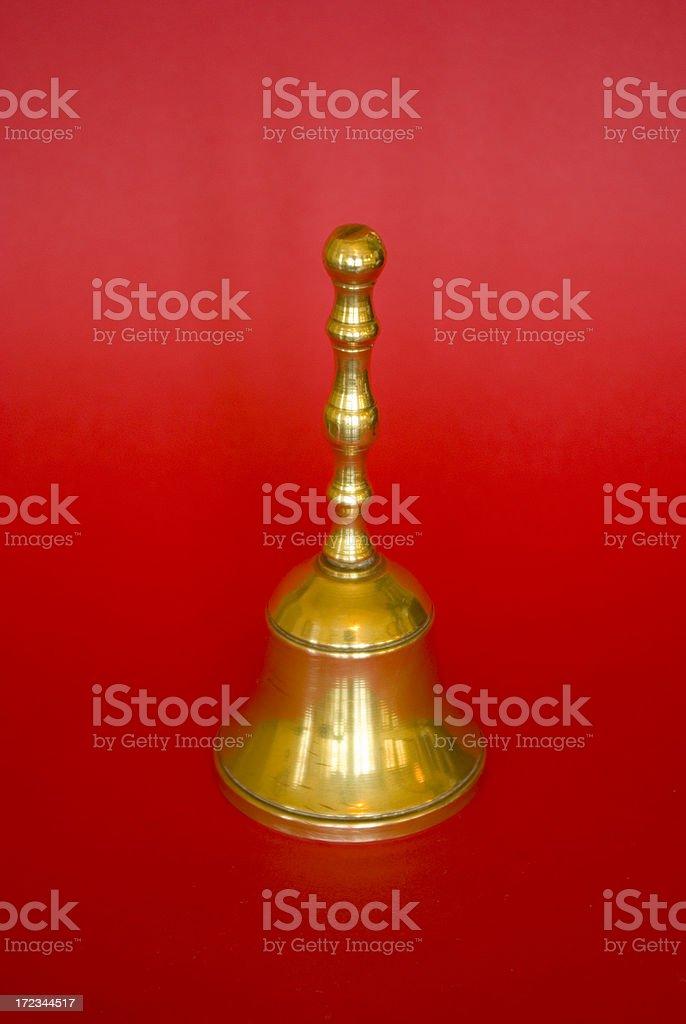 Campanilla en rojo stock photo