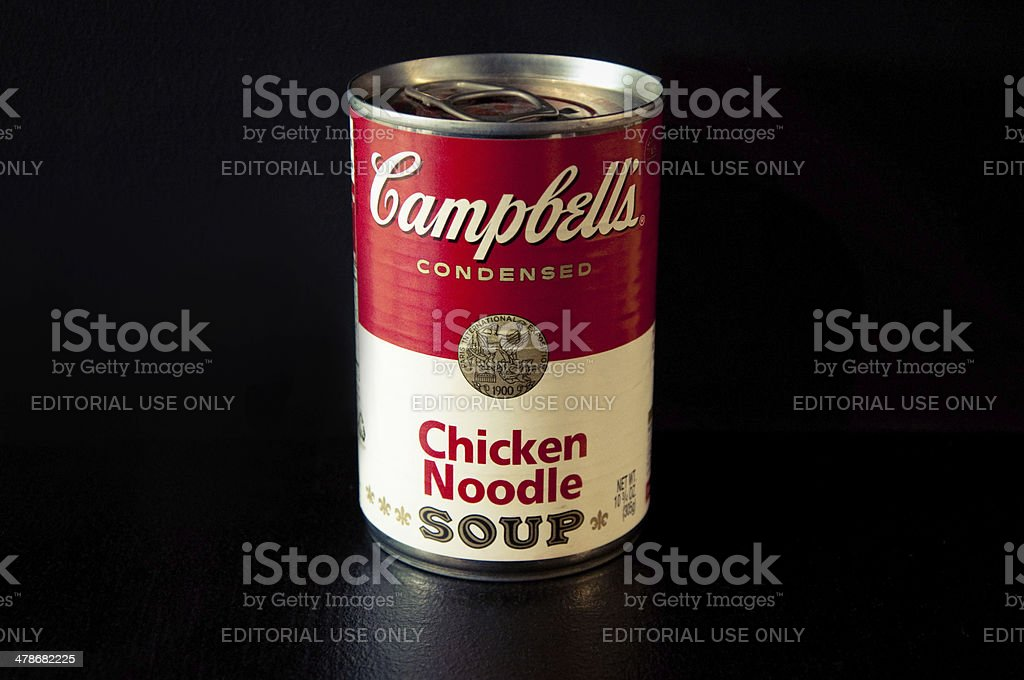 Campbell's Chicken Noodle Soup stock photo