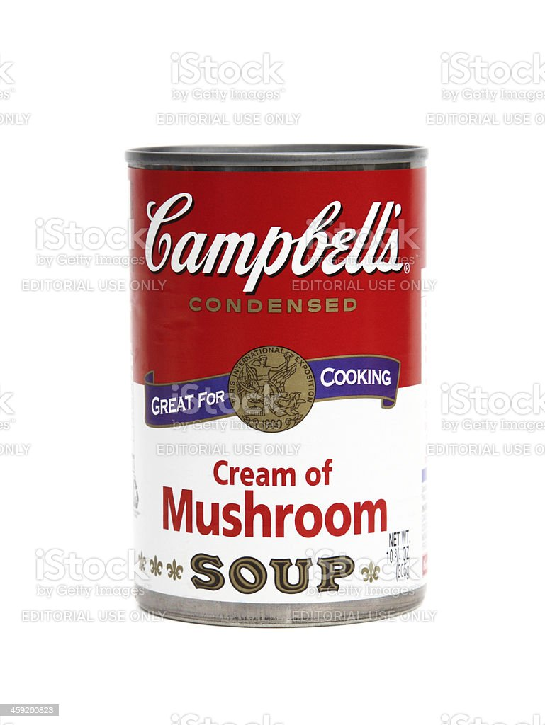 Campbell's Cream of Mushroom Soup royalty-free stock photo