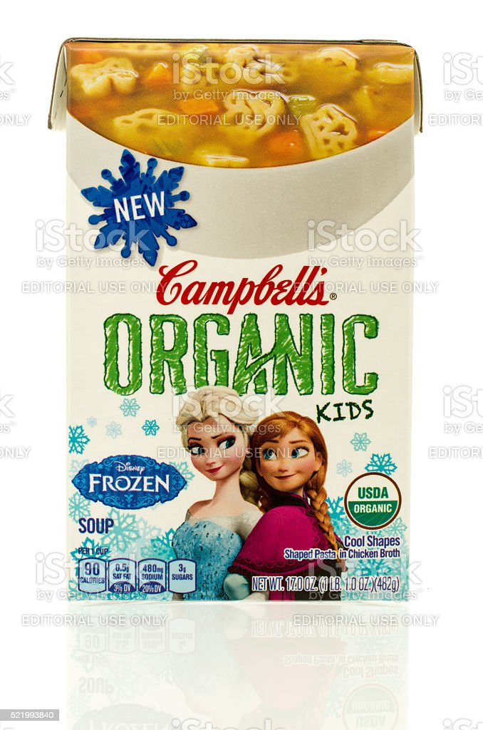 Campbell's Organic Soup stock photo