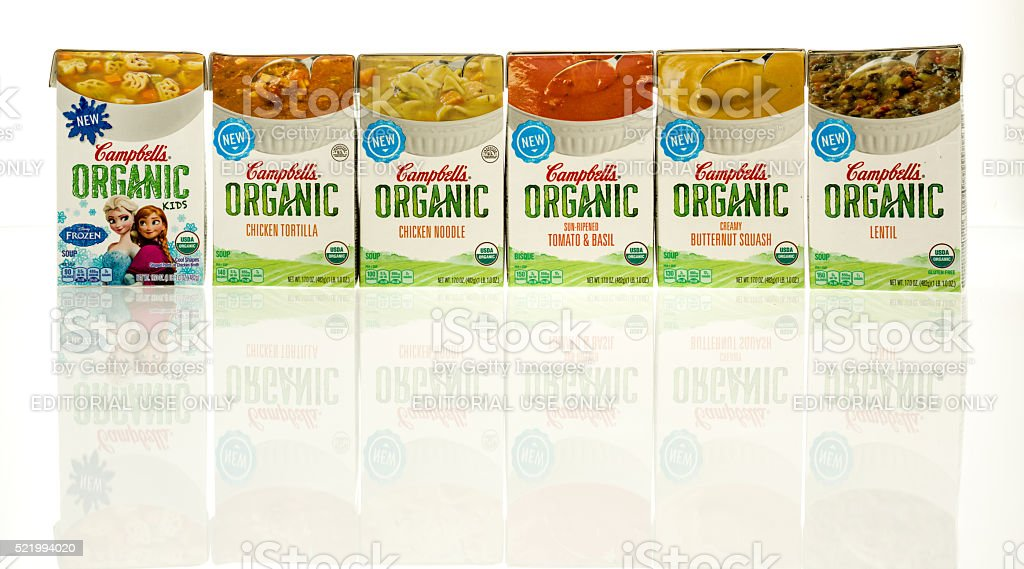 Campbell's Organic Soups stock photo