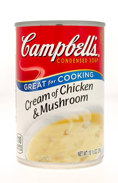 campbells - schnelle suppen stock-fotos und bilder