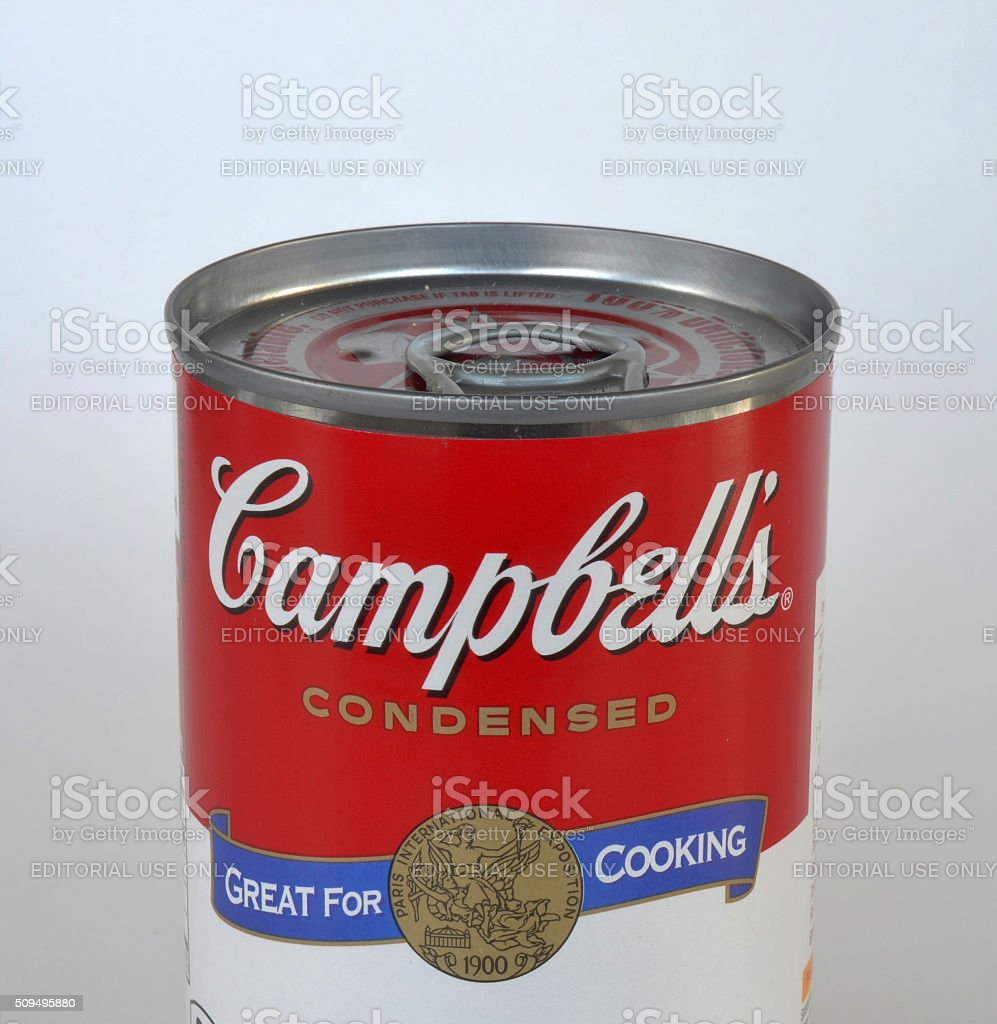 Campbell's Soup Can Isolated royalty-free stock photo