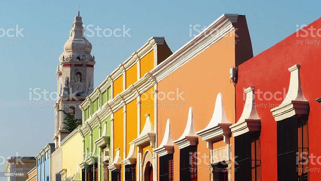 Campeche Old Town, Mexico stock photo