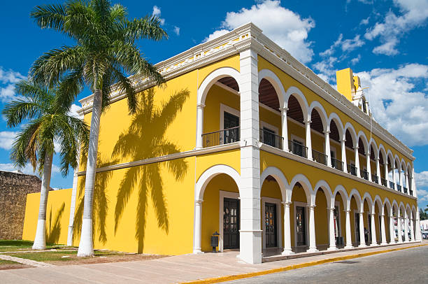 Campeche Public State Library, historical building (Mexico) stock photo