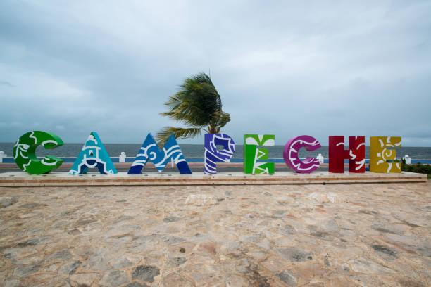 Campeche word, Mexico stock photo